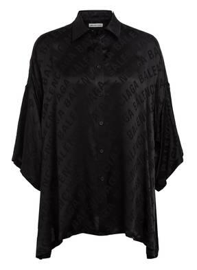 BALENCIAGA Hemdbluse aus Seide mit 3/4-Arm