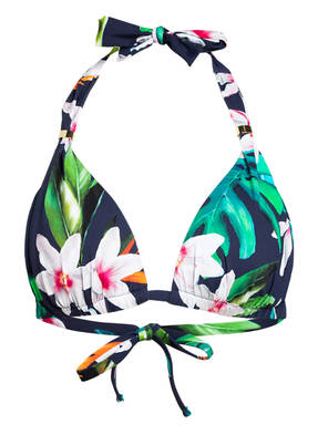 LAUREN RALPH LAUREN Neckholder-Bikini-Top WATERCOLOR TROPICAL