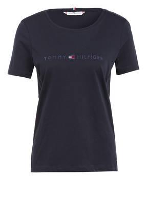TOMMY HILFIGER T-Shirt mit Schmucksteinbesatz