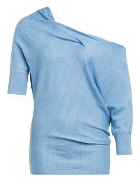 REISS One-Shoulder-Strickshirt FLO mit Leinen
