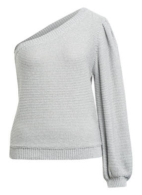 ba&sh One-Shoulder-Pullover GLOOMY mit Glitzergarn