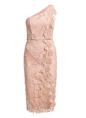 REISS One-Shoulder-Kleid MENA mit Spitzenbesatz