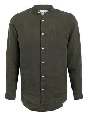 NN07 Leinenhemd JUSTIN Regular Fit mit Stehkragen