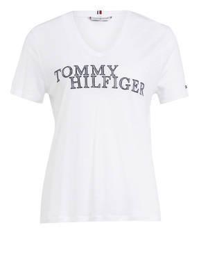 TOMMY HILFIGER T-Shirt CHRISTA mit Leinen