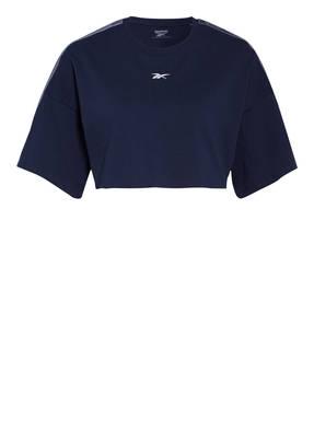 Reebok Cropped-Shirt mit Galonstreifen