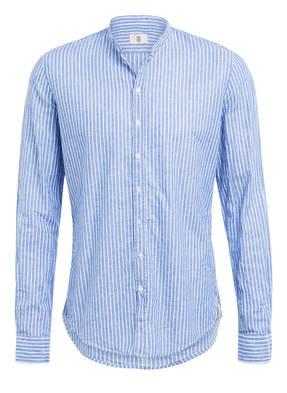 Q1 Manufaktur Hemd RENE Slim Fit mit Stehkragen und Leinen