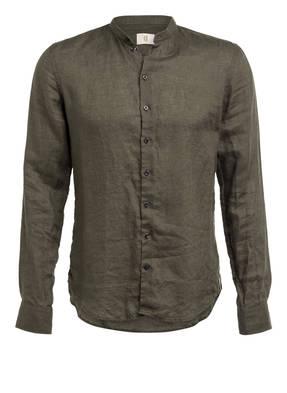 Q1 Manufaktur Leinenhemd RENÉ Extra Slim Fit mit Stehkragen
