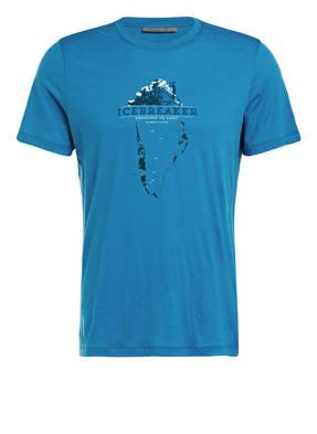 icebreaker T-Shirt mit Merinowolle