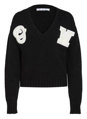 OFF-WHITE Pullover mit Alpaka