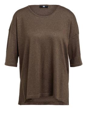 RIANI Strickshirt mit 3/4-Arm und Glitzergarn