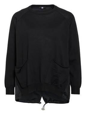 RIANI Pullover aus Merinowolle im Materialmix
