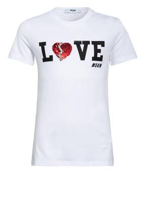 MSGM KIDS T-Shirt mit Schmucksteinbesatz