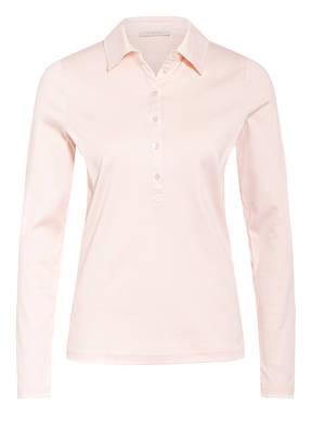 lilienfels Jersey-Poloshirt mit Schmucksteinbesatz