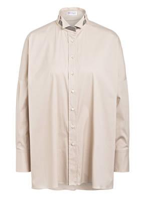 BRUNELLO CUCINELLI Oversized-Hemdbluse mit Perlenbesatz