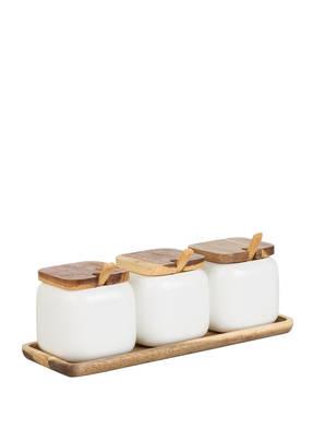 ladelle Vorratsdosen-Set ESSENTIALS mit Deckel und Löffel