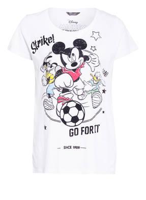 Princess GOES HOLLYWOOD T-Shirt GO FOR IT MICKEY mit Schmucksteinbesatz