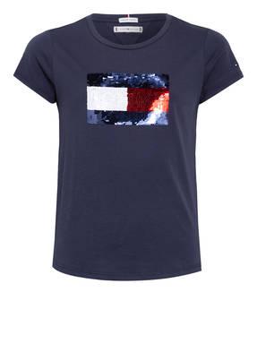 TOMMY HILFIGER T-Shirts mit Paillettenbesatz