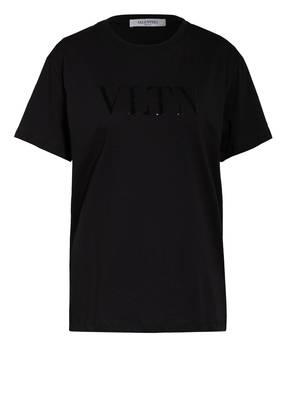 VALENTINO T-Shirt mit Pailletenbesatz