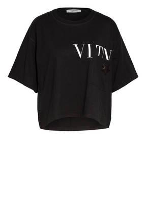 VALENTINO T-Shirt mit Paillettenbesatz
