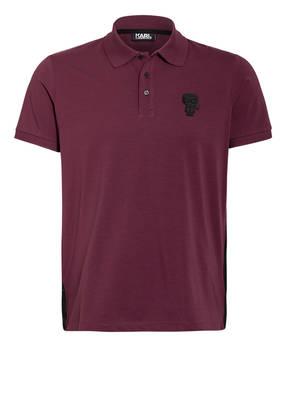 KARL LAGERFELD Jersey-Poloshirt mit Galonstreifen