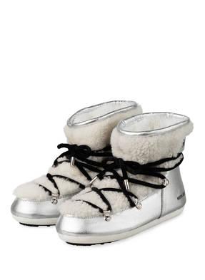 MOON BOOT Moon Boots DARK SIDE mit Echtfellbesatz
