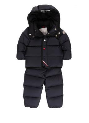 MONCLER enfant Daunen-Schneeanzug mit abnehmbarer Kapuze