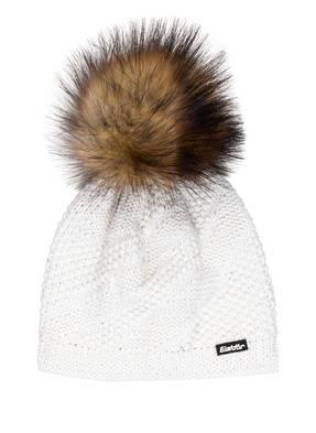 Eisbär Mütze YVA LUX mit Kunstpelzbommel