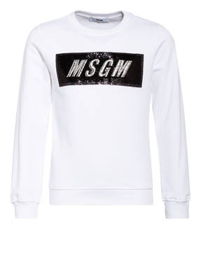 MSGM KIDS Sweatshirt mit Paillettenbesatz