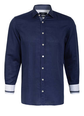 HACKETT LONDON Hemd Slim Fit mit Leinen