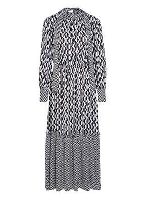 Mrs & HUGS Schluppenkleid aus Seide mit Rüschenbesatz