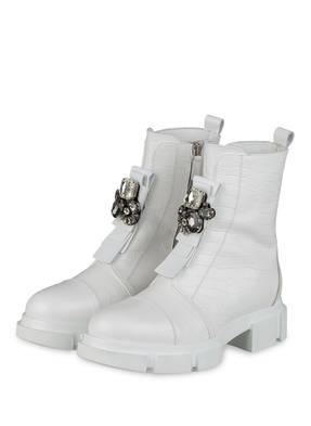 NO CLAIM Plateau-Boots ELENA 12 mit Schmucksteinbesatz