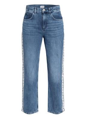 CLAUDIE PIERLOT Boyfriend Jeans PLAYER mit Galonstreifen