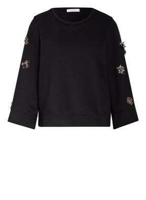 DOROTHEE SCHUMACHER Sweatshirt CASUAL COOLNESS mit Schmucksteinbesatz