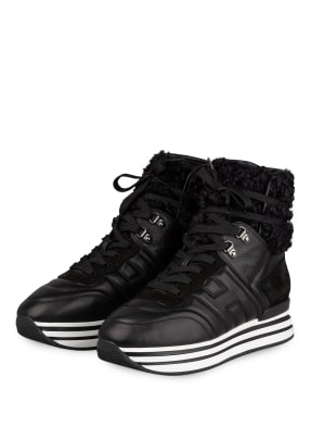 HOGAN Hightop-Sneaker H483 mit Kunstfellbesatz