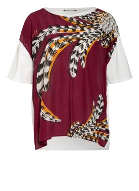 WEEKEND MaxMara T-Shirt im Materialmix mit Seide