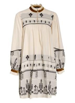 Devotion Kleid mit Samtbesatz