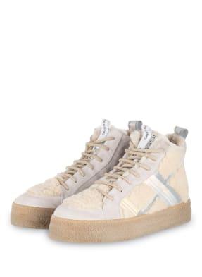 DONNA CAROLINA Hightop-Sneaker mit Lammfellbesatz