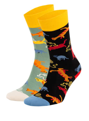 DillySocks 2er-Pack Strümpfe LAZY KITTY – CRAZY CAT