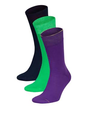 VON Jungfeld 3er-Pack Socken DREI MIT KLASSE