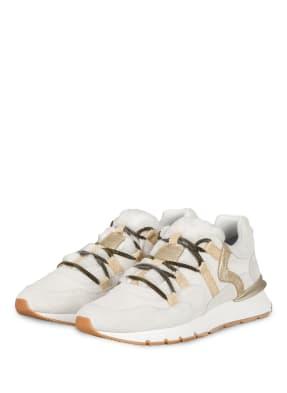 VOILE BLANCHE Plateau-Sneaker mit Kunstfellbesatz