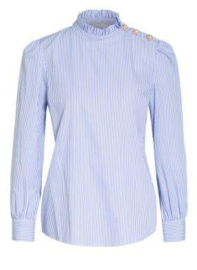 rich&royal Blusenshirt mit Schmuckstein- und Rüschenbesatz