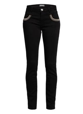 MOS MOSH Skinny Jeans NAOMI mit Schmucksteinbesatz