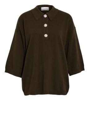 GANNI Cashmere-Pullover mit 3/4-Arm