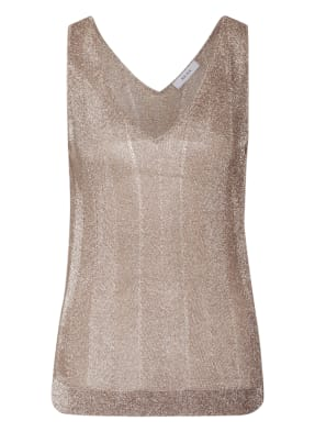REISS Top ALICE in Metallic-Optik