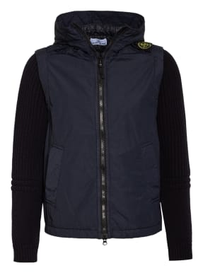 STONE ISLAND Strickjacke im Materialmix