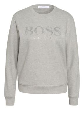BOSS Sweatshirt EBOSSA mit Schmucksteinbesatz