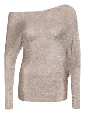 REISS One-Shoulder-Shirt ISLA mit Glitzergarn