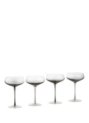 BROSTE COPENHAGEN 4er-Set Cocktailgläser SMOKE