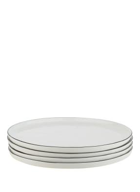 BROSTE COPENHAGEN 4er-Set Speiseteller SALT