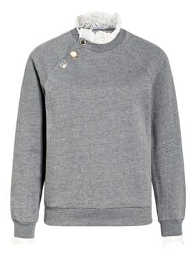 CLAUDIE PIERLOT Sweatshirt TOURNEEBIS mit Spitzenbesatz